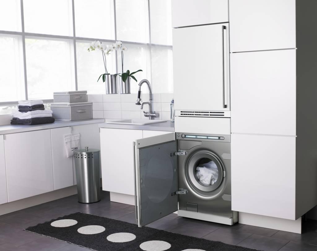 7 примеров стиральной машины в интерьере